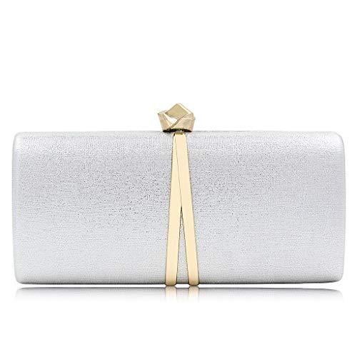 Clutch Women Shoulder Handbag Wedding SLYlive Crossbody Bridal Prom Silver Bag Party Evening A4RxwcX