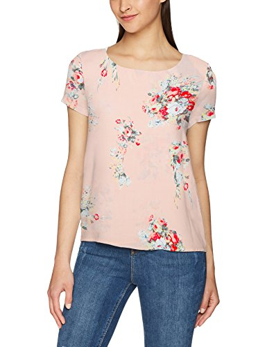 AOP flowers Wvn SS Mix Noos Peach Camicia Top Aop Onlfirst Multicolore Whip Only Donna OntqUwaU