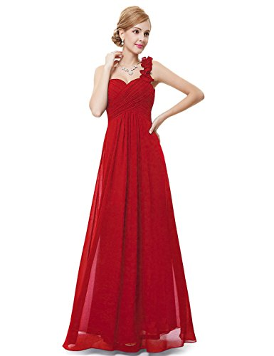 Ever-Pretty Juniors One Shoulder Empire Waist Long Prom Dress 16 US (Empire Chiffon)