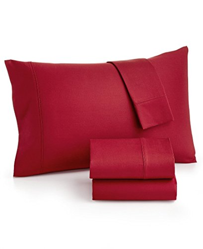 NEW MASON COLLECTION KING SHEET SET 800 TC THREAD COUNT FINE LINENS Jewel Red - Pillow Mason Collection