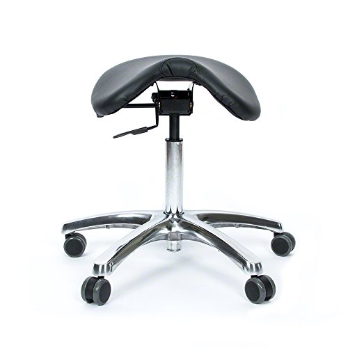 Jobri BetterPosture Saddle Chair -Multifunctional Ergonomic Back Posture Stool with Tilting Seat - Reduce Pressure on Lower Back and Improve Posture While Sitting