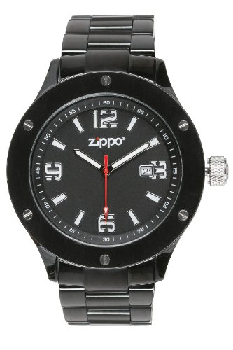 Zippo-Work-Watch-with-Black-Dial-and-Solid-Stainless-Steel-Band