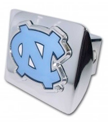 Elektroplate University of North Carolina (NC with Color) Shiny Chrome Hitch Cover ()