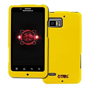 EMPIRE Verizon Motorola DROID Bionic Yellow Rubberized Hard Case Cover [EMPIRE Packaging]