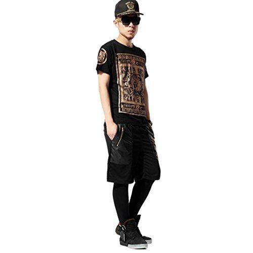 Zero Men's Unisex Leopard Pompous Luxury Hipster Religious Hip Hop T Shirts (XXL (US Size XL), Y0681-g)