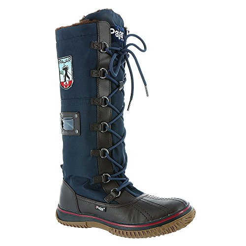 Boot Grip Navy Zip Brown Dark Pajar Women's R1w0qnC
