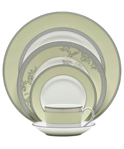 Vera Wang China Vera Lace Bouquet Fern Dinner Plates (Vera Wang Platinum Lace compare prices)