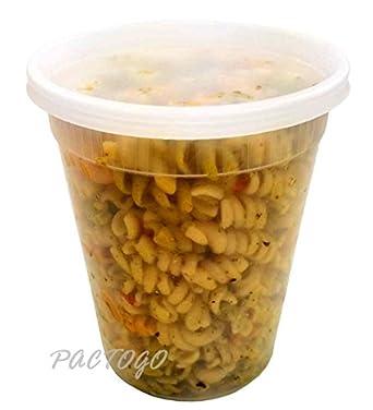 (Quart Size) Plastic Freezer Food Storage Deli Soup