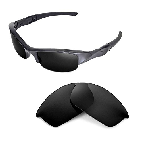 - Walleva Replacement Lenses Or Lenses/Rubber Kit for Oakley Flak Jacket Sunglasses - 46 Options Available (Black - ISARC Polarized)