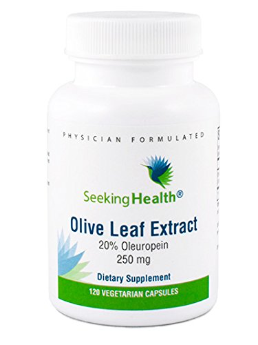 Olive Leaf Extract 120 Caps (Olive Leaf Extract | 20% Oleuropein | 120 Vegetarian Capsules | Physician Formulated | Seeking Health)