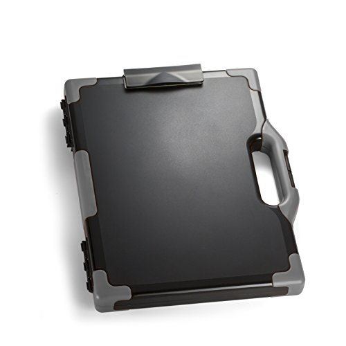 Officemate OIC Carry All Clipboard Storage Box, Letter/Legal Size, Black and Gray (83324) ()