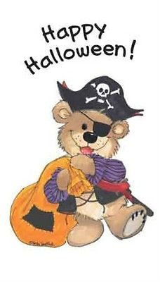 Suzy Zoo Boof Bear Dressed in Pirate Halloween Costume Sticker (Halloween Costumes In London)