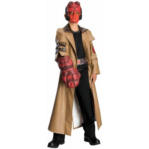 Deluxe Kids Hellboy Costumes (Deluxe Hellboy Costume - Small)