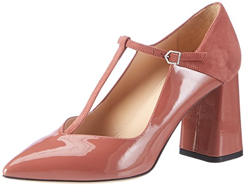 Hugo Women's Dacia-p 10199301 01 T-Bar Pumps Brown (Open Brown) wEuOZOE