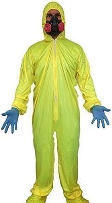 Breaking Chemist Yellow Hazmat Suit Fancy Dress Costume Bad Walter Cook Suit