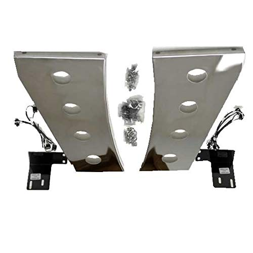 Stainless Steel Cowl Panels With 8 2 Inch Round Light Holes Fits Peterbilt 389