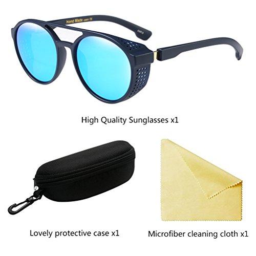Zhhlinyuan Lunettes de Shades Mens Lunettes de Femmes Unisex UV400 Protective Soleil Ladies Élégant Vue Blue AWZrcFqA