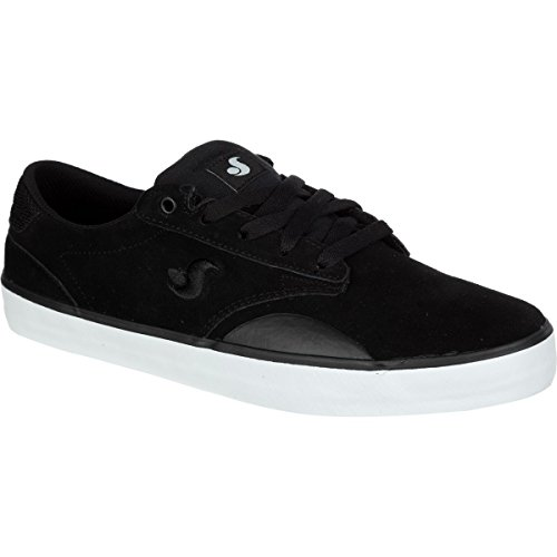 DVS Men's Daewon 14 Skateboarding Shoe, Black Suede, 9 M US