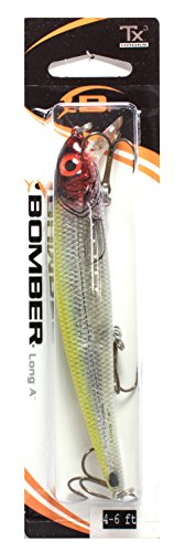 Bomber Suspending Pro Long A Fishing Lure (Clown Flash, 4 5/8-Inch)