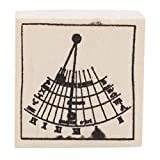 YouCY Wooden Rubber Stamps for Scrapbooking Planner Albums Diary Decoration Birthday Thinking Rays Graphics Stamp DIY Craft Nine Planet Stamp Toy,Sundial