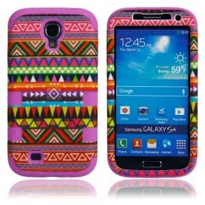 Red Tribe Pattern Case for Samsung S4 i9500 Purple