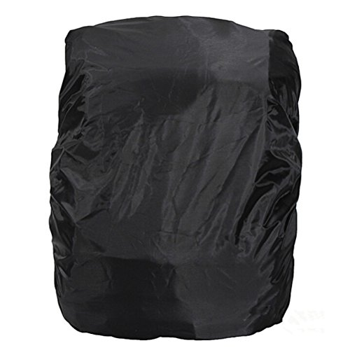 41k0O A2tzL. SS500  - NUOLUX Universal Foldable Outdoor Camping Hiking Waterproof Dustproof Travel Backpack Rucksack Rain Cover Protector 15L-35L (Black)