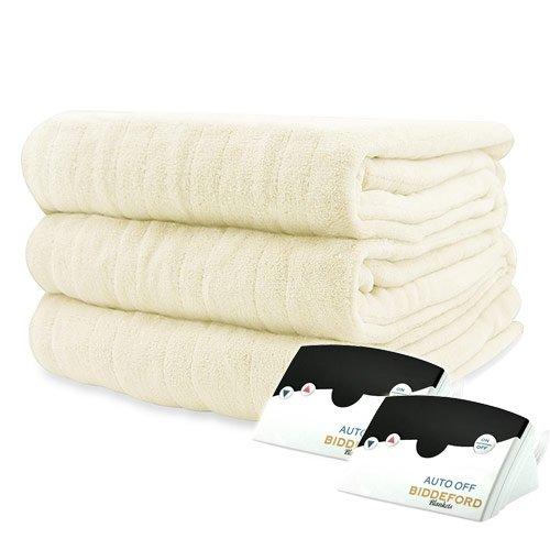 Bidderford Blankets Micro Plush Heated Blanket, King, Cr