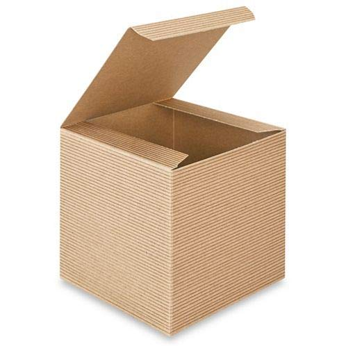 A1 Bakery Supplies Kraft Gift Boxes, 4X 4 x 4 Inch, Brown, Pack of 10 (Gift Ornaments Box)