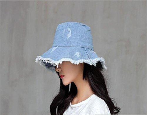 795635f7f3b Joylife Demin Washed Bucket Hat (Dark Blue) at Amazon Women s Clothing  store