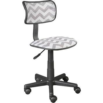 Beau Urban Shop Swivel Mesh Task Chair, Grey Chevron