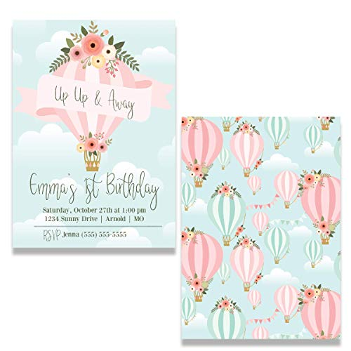 Hot Air Balloon | Birthday Party Invitation | Personalized]()