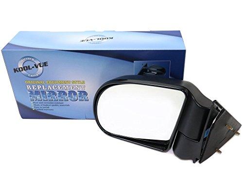 Kool Vue GM49L Chevy S10 Pickup Driver Side Mirror, Manual, Below Eyeline Type, Textured Black (Below Eyeline Side Mirror Manual)
