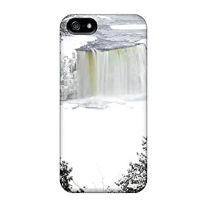 5/5s Scratch-proof Protection Case Cover For Iphone/ Hot Frozen Niagara Falls Phone Case