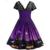 Forthery Halloween Dress, Women Pumpkin Skater