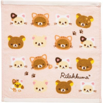 [Rilakkuma] hand towel * leisurely cat series * by San-X