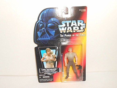 (Qiyun Star Wars POTF Orange Red Card Luke Skywalker Dagobah w Short Lightsaber MOC 076281695884)