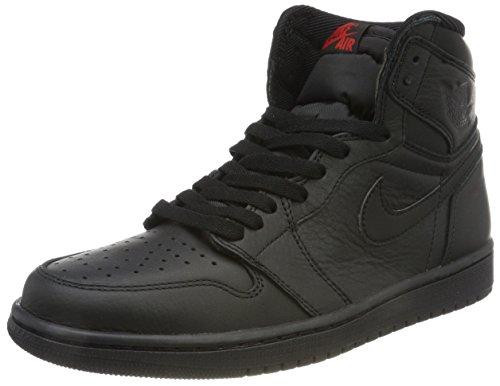 Nike Menns Air Jordan En Mid Basketball Shoe Black / Varsity Red