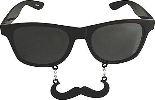 Sunstaches Handlebar Sunglasses, Instant Costume, Party Favors,