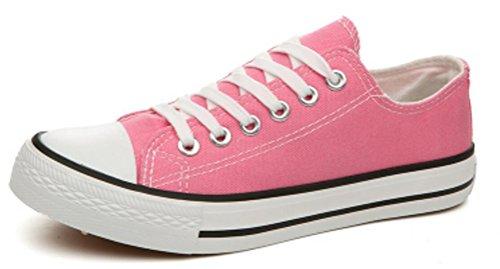 Ace Shock Zapatillas Bajas De Lona Planas Para Mujer Ocasionales Zapatillas De Moda Rosa