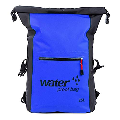 High capacity Waterproof Backpack Bag, Dry Bag for Boating Kayaking Swimming Fishing Surfing Beach Snowboarding - Protect Camera Cash Document From Water and Dirt Portable ( Color : Blue , Size : M )
