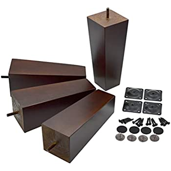 Amazon Com 8 Inch Wood Furniture Legs Squared Tapered