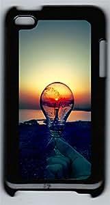 iPod 4Case Lightbulb Sunset PC Custom iPod 4Case Cover Black