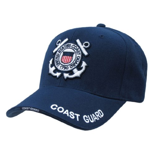 Rapid Dom US Military Legend Branch Logo Rich Embroidered Baseball Caps S001 Coast Guard Seal