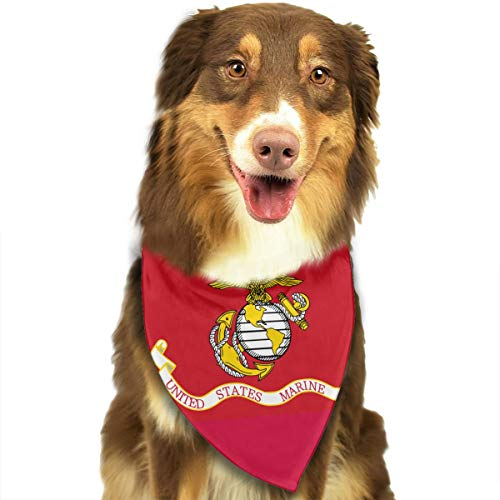 OURFASHION Flag of The United States Marine Corps Bandana Triangle Bibs Scarfs Accessories for Pet Cats and Puppies.Size is About 27.6x11.8 Inches (70x30cm).