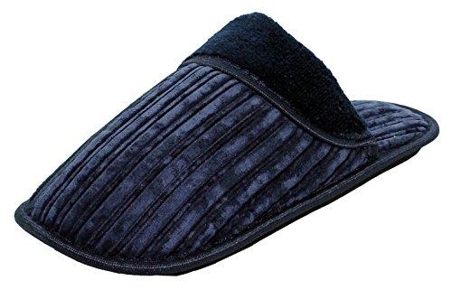Herenhuis-pantoffels -comfortabele Indoor Open Back-slip-ons - Zwart / Bruin / Marineblauw