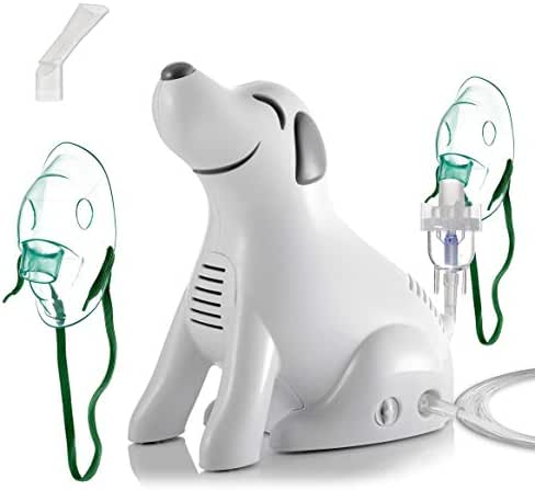 Personal Cool Mist Inhaler Compression System for Kids and Adults, Dog-Shaped System, Cute, Portable and Compact, All Accessories Included, FDA-Approved Breathing Machine