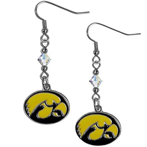 NCAA Iowa Hawkeyes Crystal Dangle Earrings