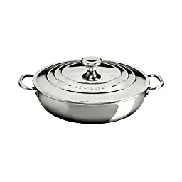 Le Creuset of America Stainless Steel Braiser, 5 quart