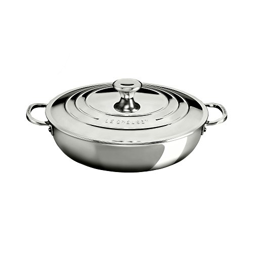 Le Creuset of America Stainless Steel Braiser, 5 quart Review