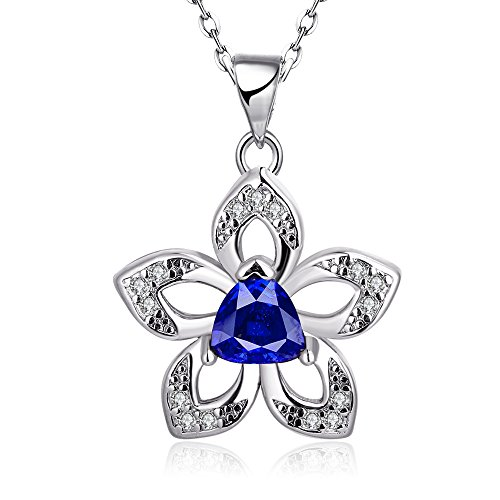 Fashion Womens Pendant Inlay Crystal Necklaces-Guillermo B. Randle (platinum-plated)